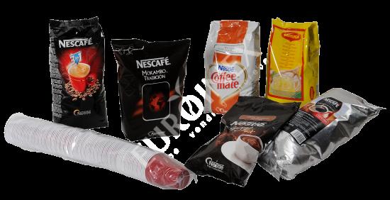 Ponuka - suroviny do nápojových automatov